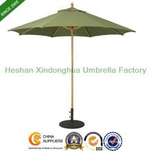 9′ Wooden Market Umbrella Suncrylic Fabric with Light Wood (WU-R827L)