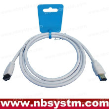 6 FT de 9 a 6 PIN IEEE1394B 6 'FIREWIRE 800 400 CABLE