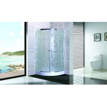 Salle de douche bon marché de cabine de douche avec le verre mat de plateau 4mm
