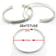 Bracelets de manchette amoureux à la mode 316 en acier inoxydable