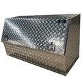 Caixa de ferramentas de porta de picareta meia porta de alumínio grande
