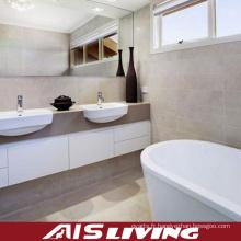 Cabinets acryliques de vanité de salle de bains de double bassin (AIS-B004)