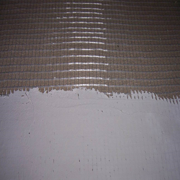 application of fiberglass mesh