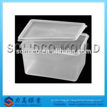 caixa de crisper de plástico molde de injeção crisper recipiente molde fabricante de alimentos molde do recipiente