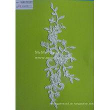 Blumen-Spitze-Ordnung weißes Hochzeits-Spitze-Gewebe mit Kornen CMC361B-T05