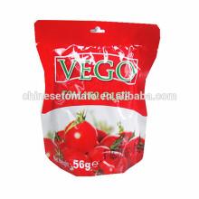 Органические 56г пакетик томатной пасты с высоким качеством