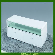 New Arrival Modern MDF high gloss white TV stand