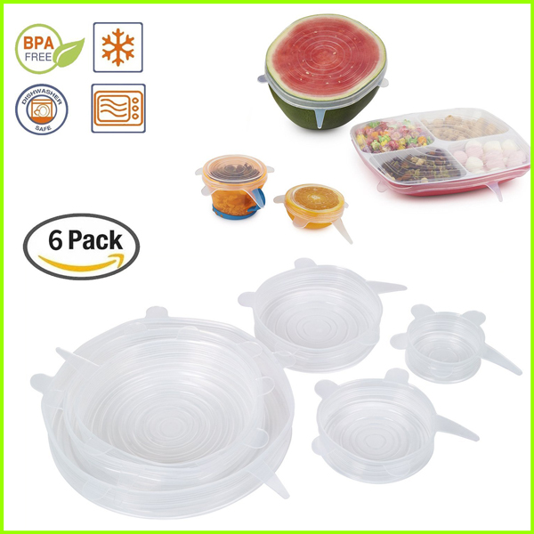 Flexible BPA Free Silicone Lids Set