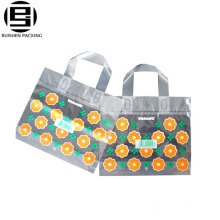 HDPE Plastic Square Bottom Printing Shopping Bag With Gusset