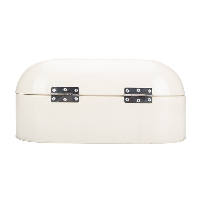 Metal Retro Cream White Bread Box