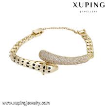 74833 xuping mais recente qualidade e charme popular pulseira para senhoras com 14k chapeado