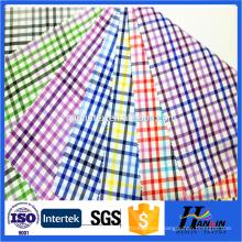 TC plaid yarn dyed men's shirt fabric
