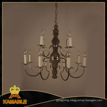 Antique Grey Wood Iron Plated Chandelier Pendant Lights (GD9113-8+4)