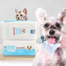Unscented Deodoranting Eye Pet Grooming Wipes
