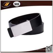 OEM de alta calidad cinturón negro de cuero genuino