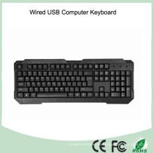 Langlebige UV-beschichtete Tasten Verdrahtete Computertastatur (KB-1688)