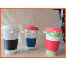 Haonai KC-00936 hand made ceramic coffee mug with cover