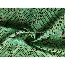 Tecido de impressão triângulo verde para Sportswear (HD1401112)
