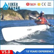 Kayaks de PE de assento único de primeira qualidade para turismo