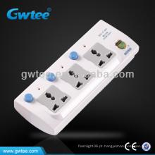 3 vias plug / soquete, tomada multi soquete, soquete de extensão de alimentação