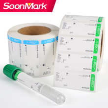 Etiqueta autoadhesiva de tubo de ensayo de sangre de laboratorio médico personalizado