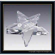 Crystal Glass Star Shape Paperweights