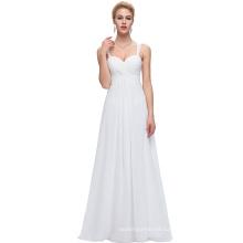 Starzz Sweetheart Sleeveless Chiffon White Prom Dress Long ST000065-2