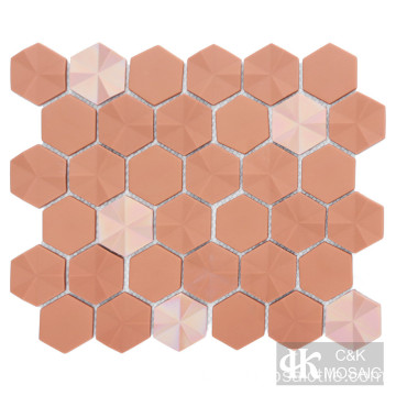 Backsplash de telha hexagonal de vidro