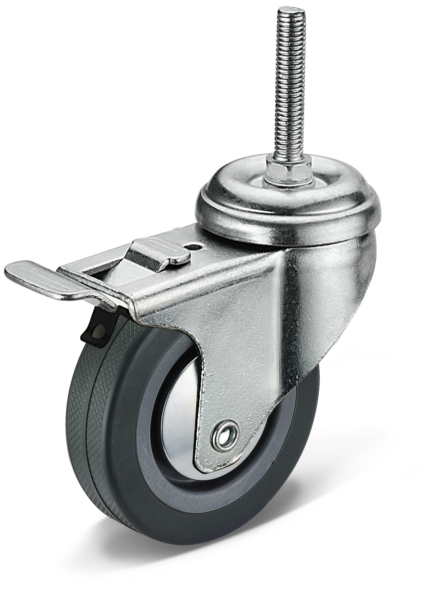 PVC Screw Movable Double Brake Casters
