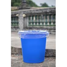 Прозрачный пластиковый мешок для мусора