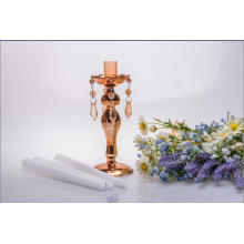 Golden Single Poster Glass Candle Holder for Wedding Decoration
