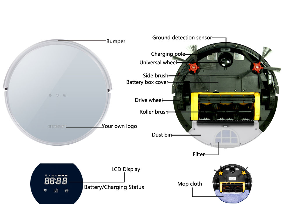 Details of Multifuction Robot Auto Vacuum Cleaner