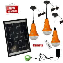 2015 nuevo DIY led luz solar con cargadores de móviles, más de 300LM