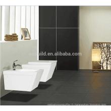 Made in China salle de bains p-piège en céramique ronde mur accroché toilettes / toilettes portatives