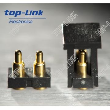 2p Flat Tipo Pogo Pin conector com caixa