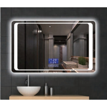 Square Shape Mirror LED Backlit Lighted Bathroom Mirror for Beauty Salon