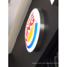Burger King Restaurant an der Wand befestigte LED Blister Acryl Lightbox