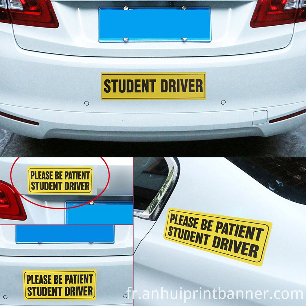 student driver magnet (86)