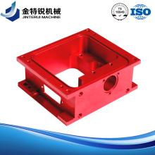 Fraisage d'usinage à commande numérique anodisée rouge
