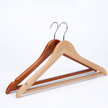 China clothes hanger wooden with square bar garment wooden hanger for shop