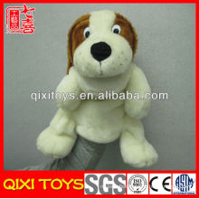 Factory mouth moving dog toy hand puppets plush dog hand puppets