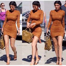 Best quality polyester colorful lady casual dress fashion short sex women dress