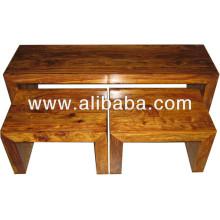 Mesa de madeira de Sheesham