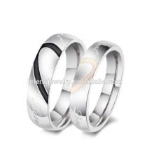 Дешевые персонализированные пары ювелирные изделия кольца,серебряное сердце кольцо