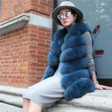 Chaleco de piel de zorro real de encargo del proveedor de China al por mayor