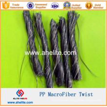 PP Twist Fiber Macro Synthetic Fibers Macrofiber Macrofibre