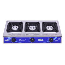 Portable Gas Cooker, Stainless Steel, Three Burners