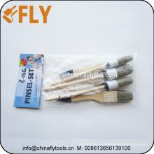brush supplier china wooden handle paint brush set