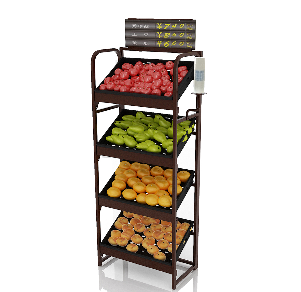 Latest Design Vegetable Display Rack