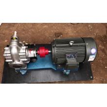 External gear driven lubrication system oil pump